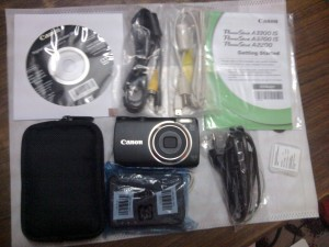 Canon A3300 Box Contents