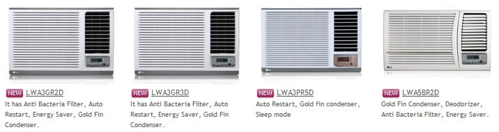 LG Window Air Conditioner Collection 2