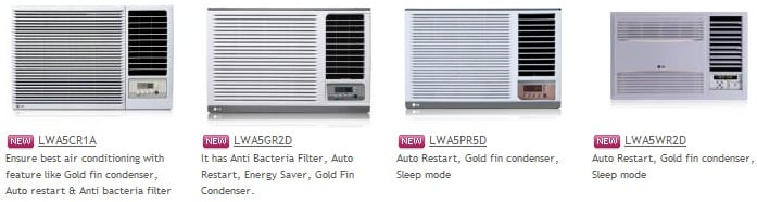 LG Window Air Conditioner Collection 3