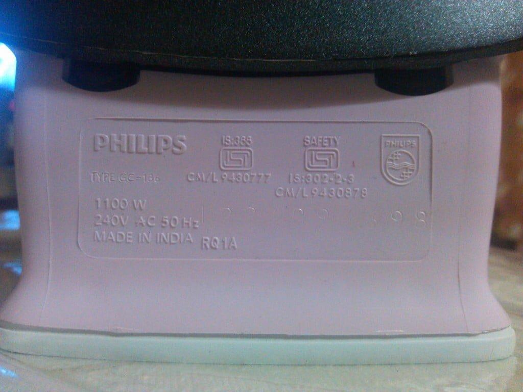 Philips Dry Iron Wattage
