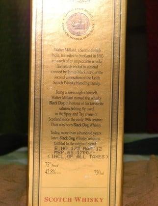 Black Dog Scotch Box 12 YO