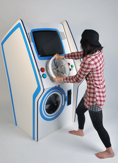Playing with Coin Slot Game Washer