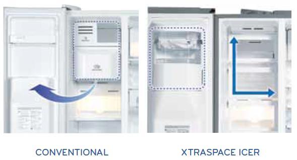 DOOR MOUNTED ICE MAKER & XTRASPACE