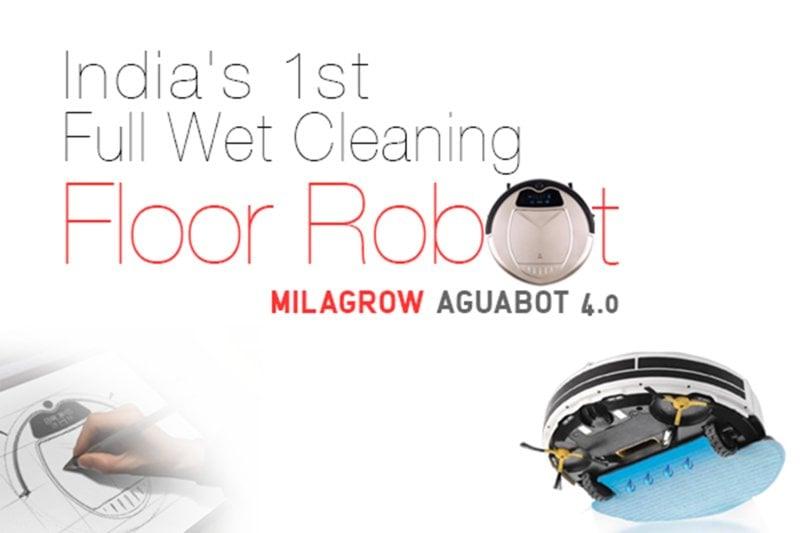 Milagrow Aguabot 4 0 World S 1st Full Wet Cleaning Floor