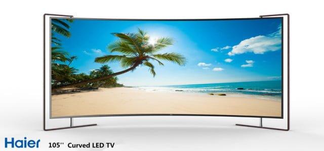 "Haier 105"" LED Curved TV"