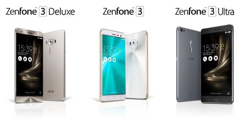 Asus Launched Zenfone 3 Smartphones and Transformer 3 Series Notebooks