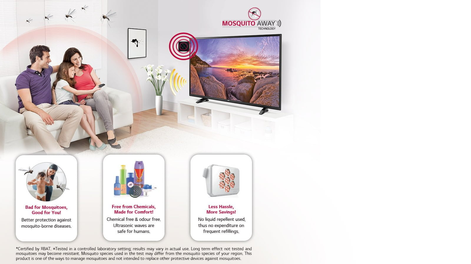 LG Mosquito Away Feature in LED TV