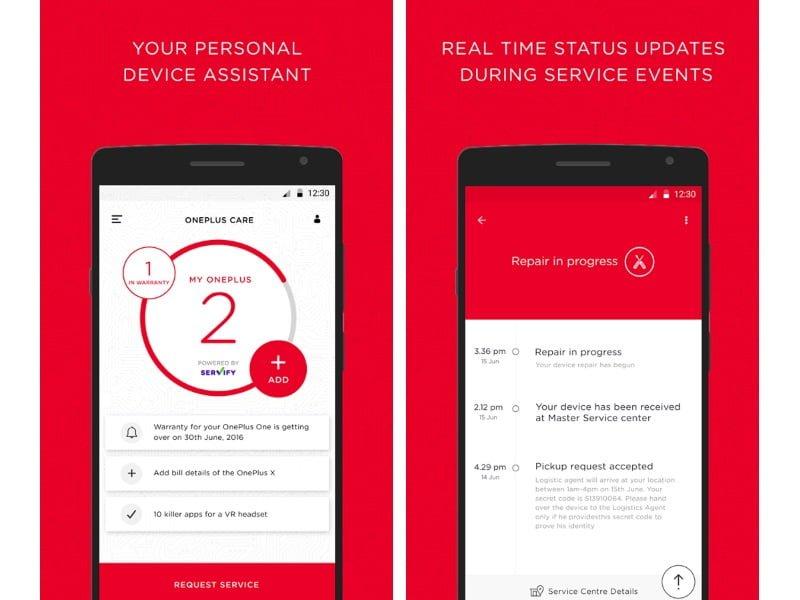 OnePlus Care app