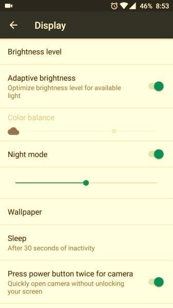 OnePlus 3 Night Mode