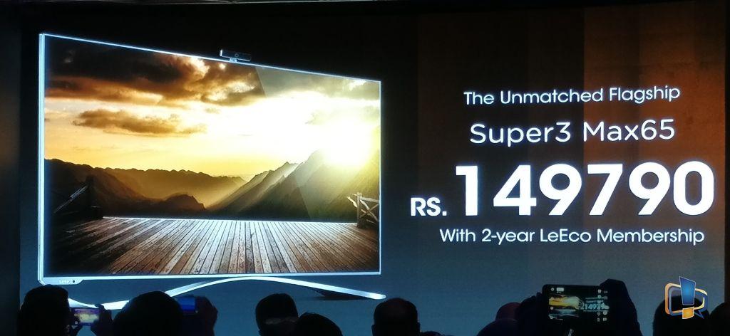 LeEco Super3 Max65 Price