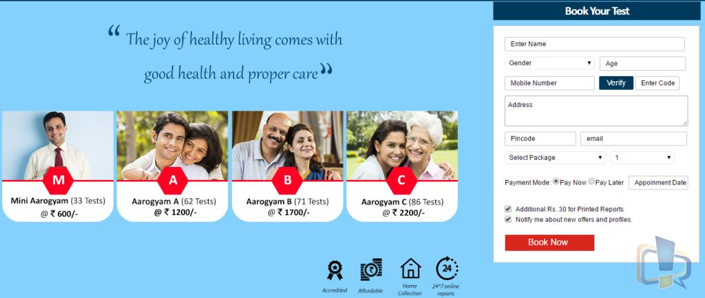 Thyrocare Booking
