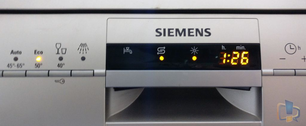 Siemens Dishwasher Wash cycle