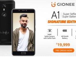 Signature Edition Gionee A1