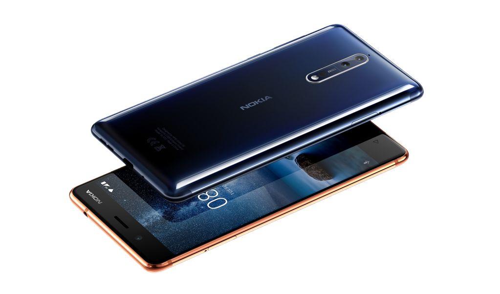 Nokia 8 Polished Blue and Polished Copper