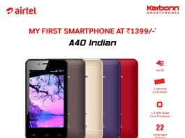 Airtel launches 4G smartphone at Rs. 1399