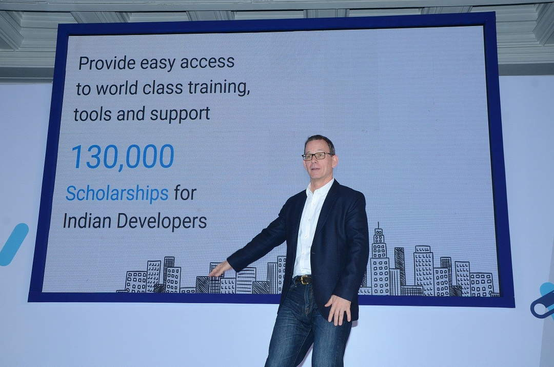 William Florance, Developer Products Group and Skilling Lead for India speaking about Google Skilling initiative in India
