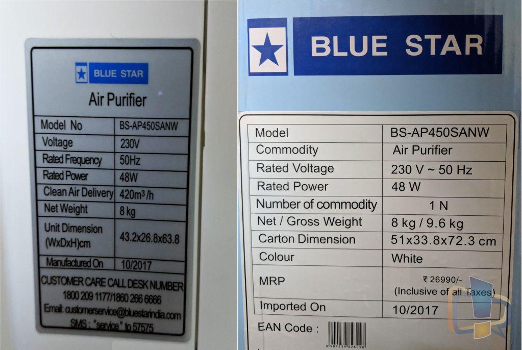 Blue Star BSAP450SANW Specs