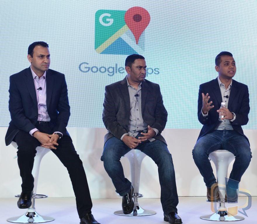 Left to Right-Suren Ruhela, Director, Google Maps Next Billion Users, Krish Vitaldevara, Product Lead, Google Maps Next Billion Users, Anal Ghosh, Program Manager, Google Maps, India