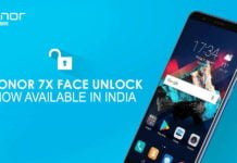 Honor 7X Gets Face Unlock Feature