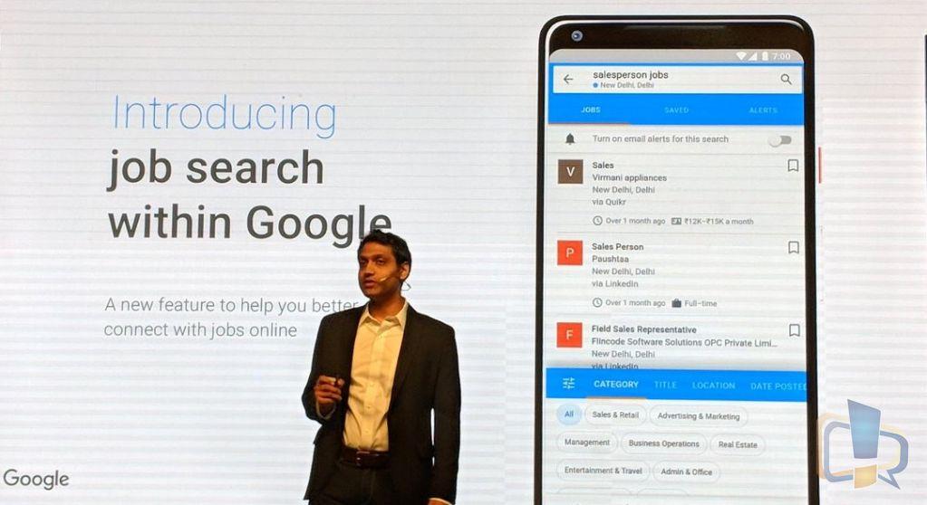 Google Job Search India