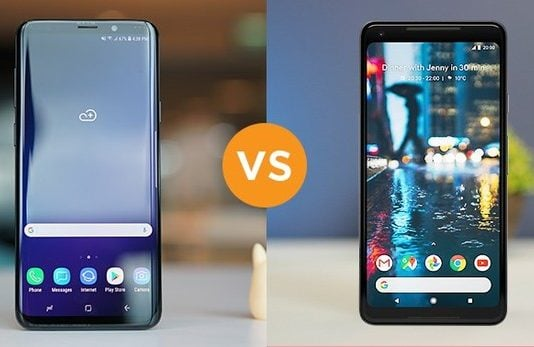 Samsung Galaxy S9 Plus vs. Google Pixel 2 Camera