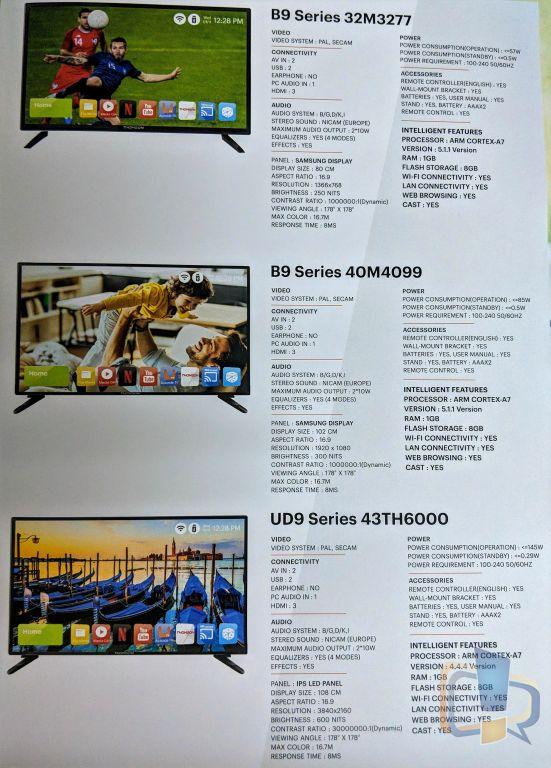 Thomson India TV Specs