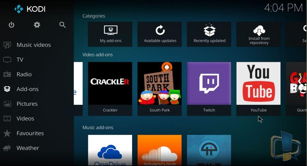 Kodi 17 in Windows 10