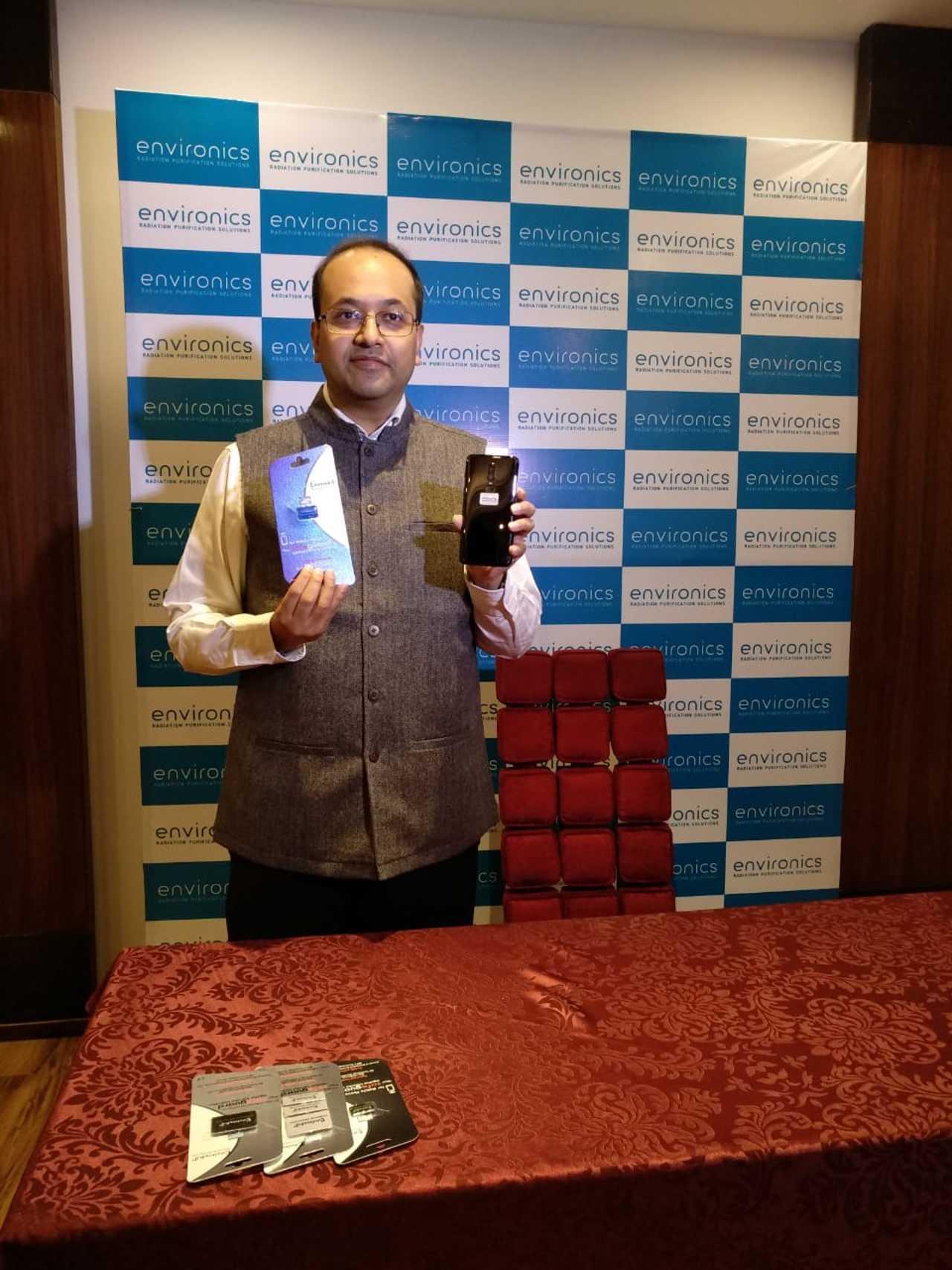 Mr. Pranav Poddar, Director, Syenergy Environics Limited, launching Envirochip in Jaipur