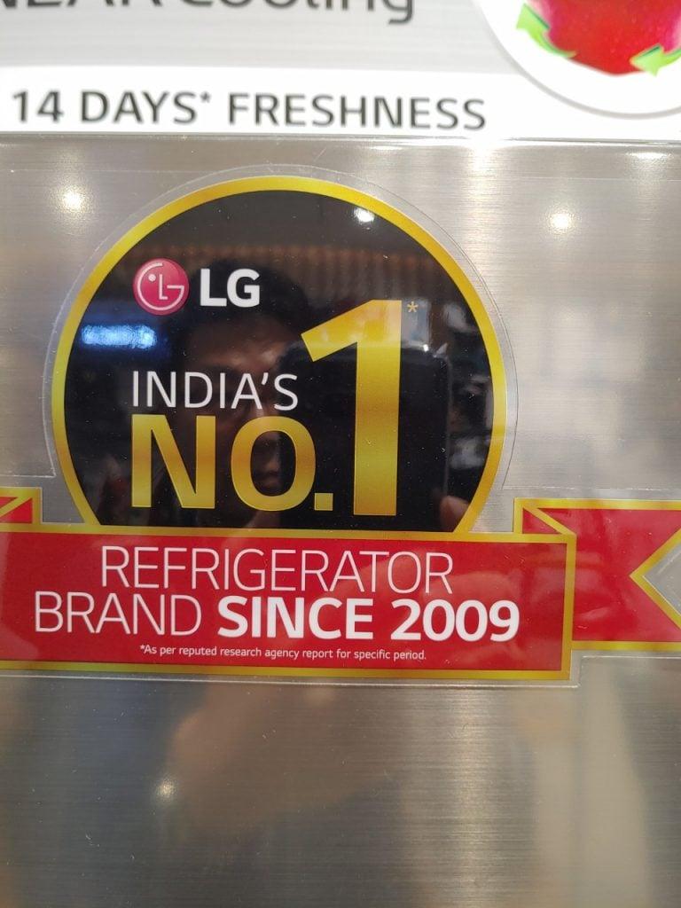 LG No1 refrigerator brand