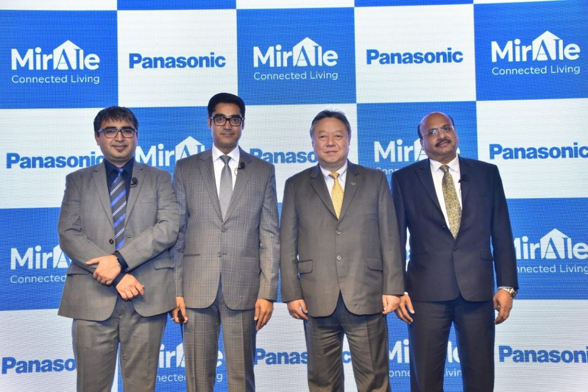 Panasonic Connected Home Solutions Launch Event Mr. Manish Misra, Mr. Manish Sharma, Mr. Daizo Ito, Mr. Dinesh Aggarwal