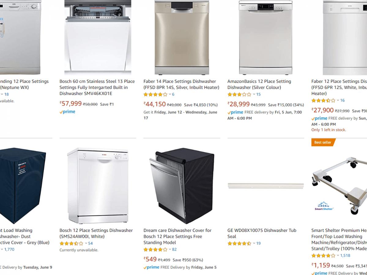Dishwashers on Amazon